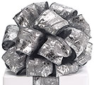 #40 CHARCOAL SILVER SPONGE WIRED RIBBON