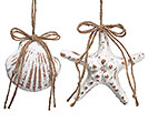SEASHELL AND STARFISH ORNAMENT SET