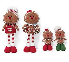 4 PIECE STANDING GINGERBREAD FAMILY