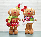 PLUSH GINGERBREAD FRIENDS DECOR