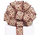 #9 KHAKI/RED BERRIES WIRED RIBBON