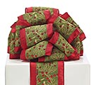 #100 GREEN LINE HOLLY RIBBON