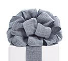 #40 GRAY TWILL REVERSIBLE WIRED RIBBON