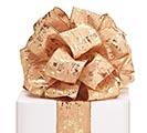 #40 GOLD SPONGED METALLIC WIRED RIBBON
