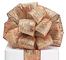 #40 COPPER EMBOSSED WIRED RIBBON
