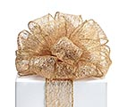 #40 GOLD OPEN WEAVE WIRED RIBBON