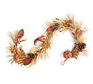 "72"" FALL GOURD MIX AND CORN HUSK GARLAND"