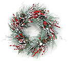 SNOWY WINTER PINE WREATH