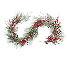 "72"" SNOWY PINE/APPLES/CRANBERRY GARLAND"