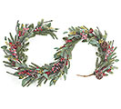 "72"" EVERGREEN AND RED BERRY GARLAND"