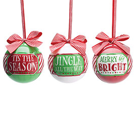 HOLIDAY MESSAGES ORNAMENT SET W/GIFT BOX