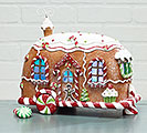 LED CRYSTAL GLITTERED GINGERBREAD CAMPER