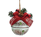 "4"" RUSTIC BELL CHRISTMAS ORNAMENT"