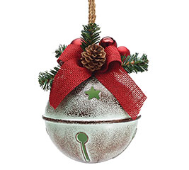 """6"""" RUSTIC BELL CHRISTMAS ORNAMENT"""