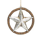 WESTERN STAR W/ ROPE RING RESIN ORNAMENT