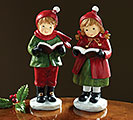 RESIN HOLIDAY CAROLER PAIR