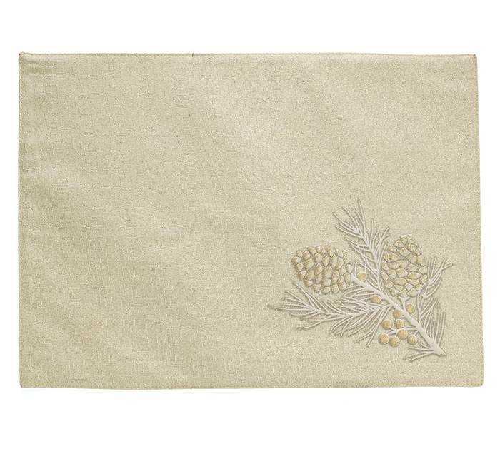 NATURALLY NOEL PINE CONE PLACEMAT