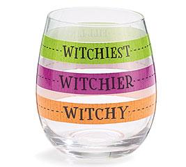 HALLOWEEN FILL LINE STEMLESS WINE GLASS
