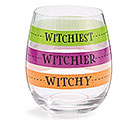 HALLOWEEN FILL LINE STEMLESS WINE GLASS