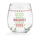 KEEP THE WINE STEMLESS WINE GLASS