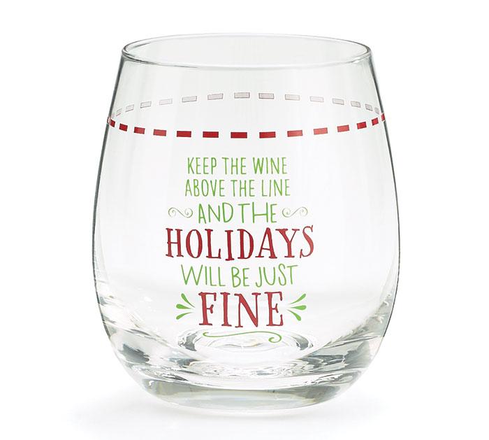 KEEP THE WINE STEMLESS WINE GLASS