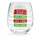 CHRISTMAS FILL LINE STEMLESS WINE GLASS 1st Alternate Image