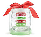 CHRISTMAS FILL LINE STEMLESS WINE GLASS 2nd Alternate Image