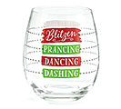 CHRISTMAS FILL LINE STEMLESS WINE GLASS