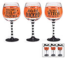 HALLOWEEN MESSAGES WINE GLASS SET