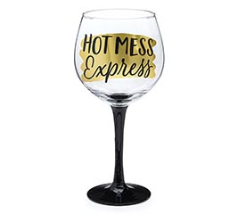 HOT MESS EXPRESS WINE GLASS