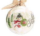 LET IT SNOW ORNAMENT WITH BURLAP BOW 1st Alternate Image