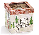 LET IT SNOW ORNAMENT WITH BURLAP BOW 2nd Alternate Image
