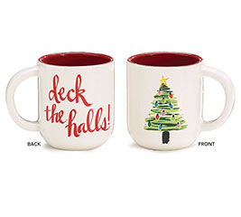 DECK THE HALLS CHRISTMAS TREE MUG