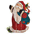 LED HAND-PAINTED WOOD PLANK SANTA
