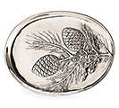 NATURALLY NOEL FAUX PEWTER PLATTER