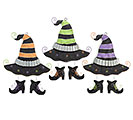 HALLOWEEN WITCH HAT WALL HANGING SET
