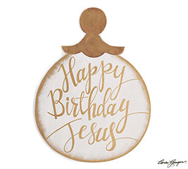 HBD JESUS ORNAMENT WALL HANGING