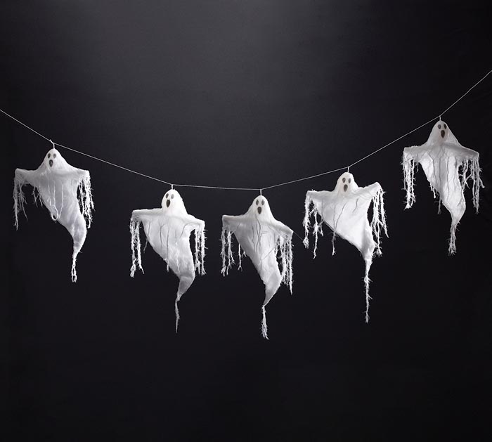 GAUZE GHOSTS GARLAND WALL HANGING