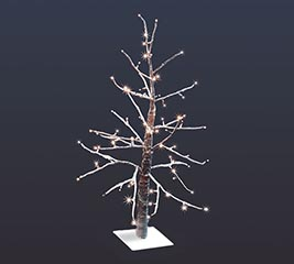 "36"" LED SNOWCOVERED DECOR TREE"
