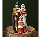 HAND PAINTED HARVEST FAMILY FIGURINE