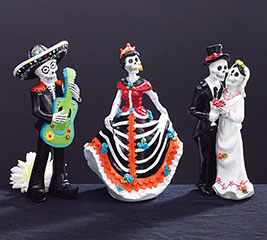 DAY OF THE DEAD RESIN FIGURINES