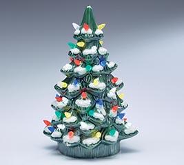 LIGHTED PORCELAIN CHRISTMAS TREE