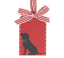 CHRISTMAS DOG GIFT TAG ORNAMENT