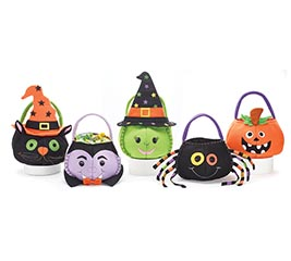 FELT HALLOWEEN CHARACTERS TREAT BAG