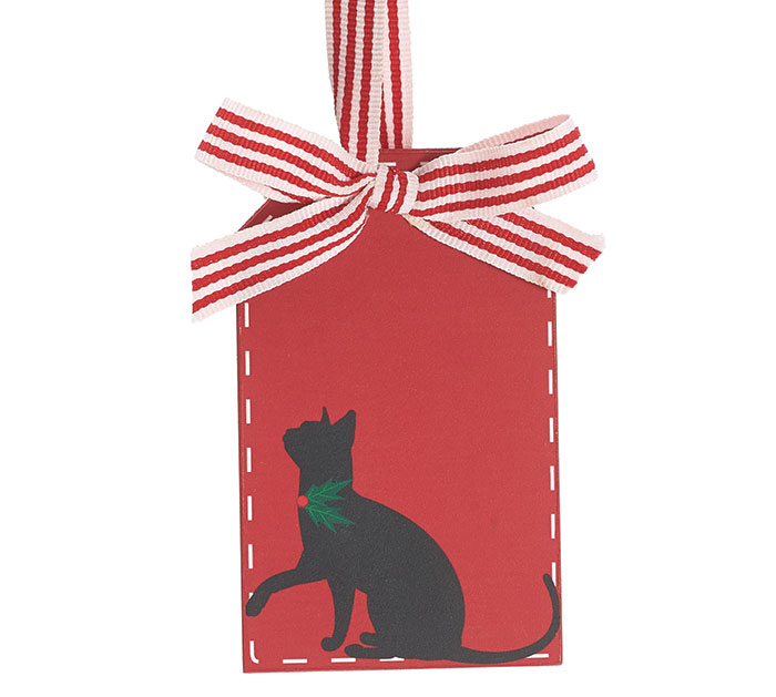 CHRISTMAS CAT GIFT TAG ORNAMENT