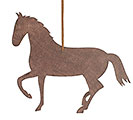 BROWN PAPERBOARD HORSE ORNAMENT