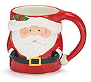 SHAPED SANTA CLAUSE CHRISTMAS MUG