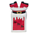 DOWN THE CHIMNEY CERAMIC COOKIE JAR