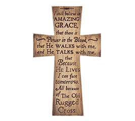 OLD RUGGED CROSS WALL HANGING