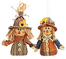 12 PIECE SCARECROW ORNAMENT SET W/ BOX